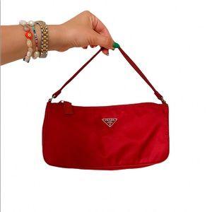Vintage Prada Tessuto Red Nylon Bag